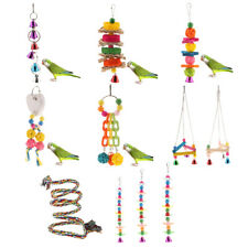 Pet Swing Bird Toy Parrot Rope Harness Cage Hang Toys Parakeet Cockatiel Budgie