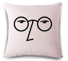 The Beatles JOHN LENNON Retro Music Vintage Throw Cushion Pillow Cover Gift