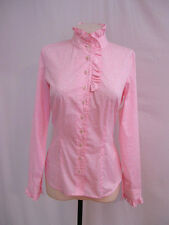 ETCETERA PINK COTTON RUFFLED SHIRT BLOUSE TOP PASSION sizes 2 8 10 16 NEW $155