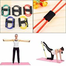 New Resistance Band Yoga Pilates Abs Exercise Stretch Fitness Tube Workout Bands