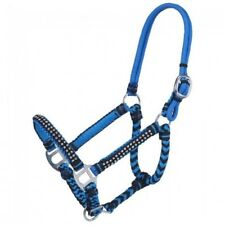 Tough 1 Miniature Horse Braided Cord Halter with Crystal Accents and Rope Crown