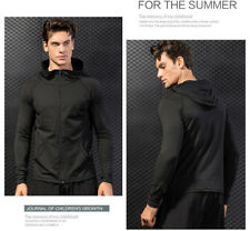 Hooded Zipper Jacket Sports Fitness Lining the Lining Fabric Tracksuit Outwear