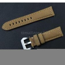 22mm New Quality Leather Brown Wristwatch Watch Strap Band For Women Men B5W0