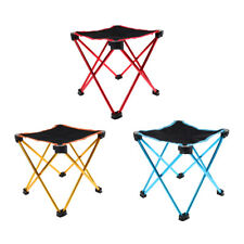 Portable Folding Camping Stool Chair + Carry Bag for Fishing Picnic BBQ