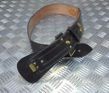 Genuine British Military Leather Sam Browne Belt With No Crossover Strap/Buckle