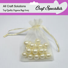 11 x 16 IVORY Luxury Organza - Gift Bags Jewellery Pouches Wedding