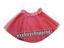 Pink Peach Tulle Tutu Summer Party Girls Skirts