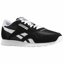 Reebok Classic 6604 Black White Mens Nylon Suede Low-Top Sneakers Trainers