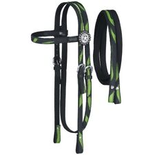 """Tough-1 Nylon Headstall and 7-Foot Reins with Fun Prints 5/8"""" Wide"""
