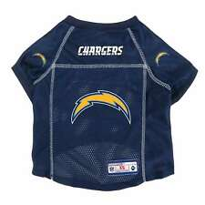 NEW LOS ANGELES CHARGERS DOG PET PREMIUM ALTERNATE JERSEY w/NAME TAG LE