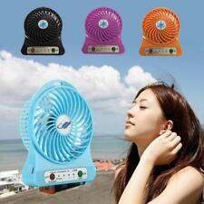 USB Powered Portable Cooling Desk Fan 3 Speed w/Light Emergency For Computer PC