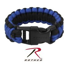 *NEW*  Thin Blue Line Rothco Deluxe Paracord Bracelets - Royal Blue/Black