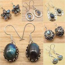 Variety Items !! Blue Fire LABRADORITE Earrings, Silver Plated Fashion Jewelry