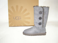 UGG Australia Bailey Button Triplet Tall Boots Grey Women's Size 6 -9 NEW !!