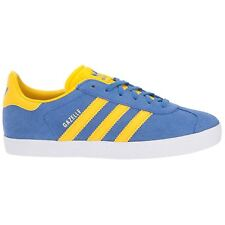 Adidas Gazelle Blue Equipment Yellow Youth Suede Low-Top Ortholite Trainers
