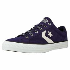 Converse Star Player Ox Midnight Indigo Egret Suede Mens Low Top Trainers