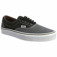 Vans Era Black Mens Canvas Lace-up Low-profile Skate Trainers Shoes