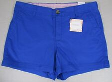DOCKERS Women's Misses Flat Front Everyday Short Blue Size 10 NEW NWT