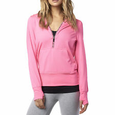 Fox Racing Womens Neon Pink Zeal Pullover Hoody Hoodie Hooded Sweater Casuals