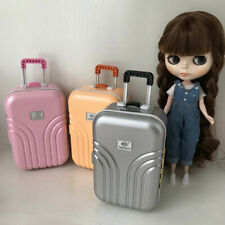 Miniature Travel Suitcase 1:6 Dolls Luggage Case 6th Scale Dollhouse Accessories