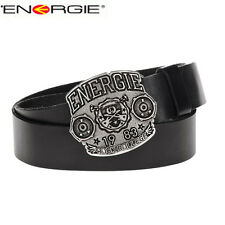 SALE NEW Authentic ENERGIE Lethe Mens Leather Belt Made in Italy Мужской Ремень
