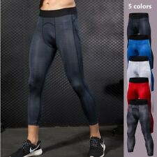 Men's Compression Base Layer Sports Cropped Pants Tights Fitness Training Short