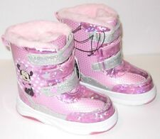 Minnie Mouse Winter Boots Toddler Girl's size 6 7 8 10 or 11 Light-up NWT