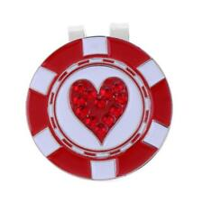Golf Ball Marker Hat Clip Magnetic Durable Alloy Golf Gift Red Heart