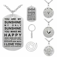 TO MY MOM/GRANDDAUGHTER Stainless Steel Necklace Keychain Keyring Mother's Day