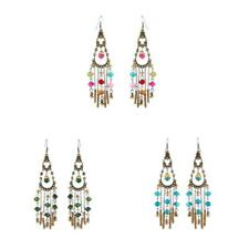 Long Tassel Drop Dangle Earrings Fashion Crystal Beads Chandelier Earrings
