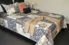 French Country Style Bed Quilt DOUAI New Coverlet incl 2 pillowcases