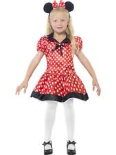 Girls Red Minnie Mouse Fancy Dress Costume - All sizes