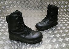 Genuine British Army Haix Goretex Lined Leather Cold Weather Black Boots