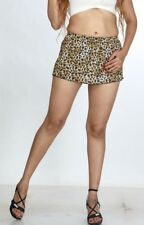 Women's Ladies Mini Skirt Frilled Skirt Girls Leopard Print Short Mini Skirt