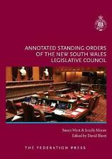 Annotated Standing Orders of the New South Wales Legislative Council Hardcover B