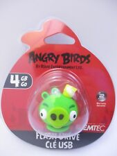 """EMTEC - 4 GB USB 2.0 FLASH DRIVE - ANGRY BIRDS """"KING PIG"""" - NEW UNOPENED"""