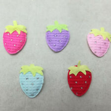 Cute Glint Strawberry Appliques Padded Craft Sewing Scrapbooking Patch Trimming