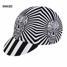 White Skeleton Coolmax Pro Team Breathable Summer Cycling Cap Bike Hat With 5 Pa