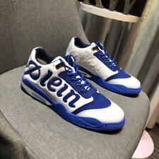NEW Style White&Blue Men's Lace Up Sport Casual Sneakers Running Shoes