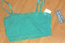 ONE STEP UP TUBE TOP BRA SIZE M -L - XL JUNIOR GREEN PINK LACE NWT