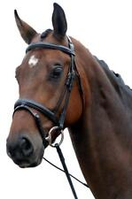 Kincade Padded Comfort Crown Headpiece Leather Flash Bridle with Laced Reins