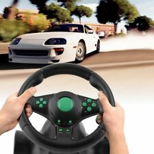USB Wired Vibration Motor Racing Games Steering Wheel For PS2 /3 Xbox 360 LOT XJ