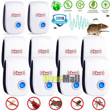 Lots 2018 ELECTRONIC ULTRASONIC PEST REPELLER CONTROL RAT COCKROACH ANT FLY FLEA