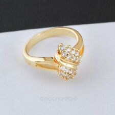 Women's Fashion Ring Gold Plated Rings Rhinestone Crystal Engagement Ring
