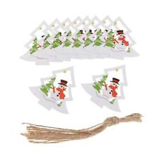 10pcs Wooden Christmas Ornaments Festival Party Xmas Tree Hanging Decoration