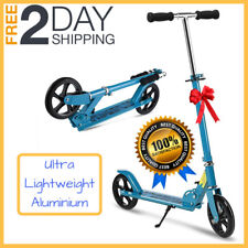 Kick Scooter Adult Kids Portable Foldable Adjustable Lightweight Fold & Carry