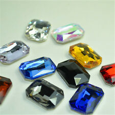 Mixed Colors Oblong Rhinestones Point back Crystal Glass Chatons Nail Art Strass