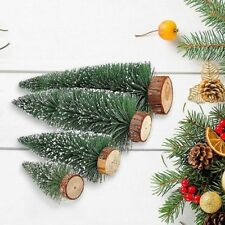 Christmas Tree Mini Fake Pine Sisal Bottle Brush Small Snow Frost Diy Xmas Trees