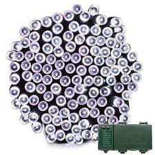 Lalapao 2 Pack Solar String Lights 72ft 22m 200 LED 8 Modes Solar Powered Xmas