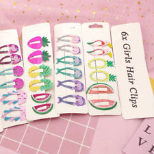 6PCS Girls Baby Fruit Hair Clips Snaps Hairpin Girls Kids Hair Bow Accessories